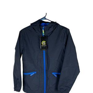 Champion Boys Blue Rain Jacket Size M(8-10)